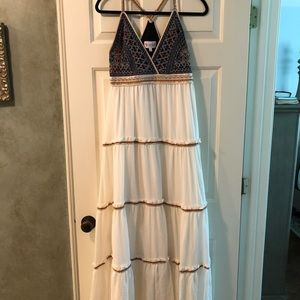 Embroidered Maxi Dress from Boston Proper